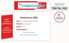 Website Verbiest-LAN 2004